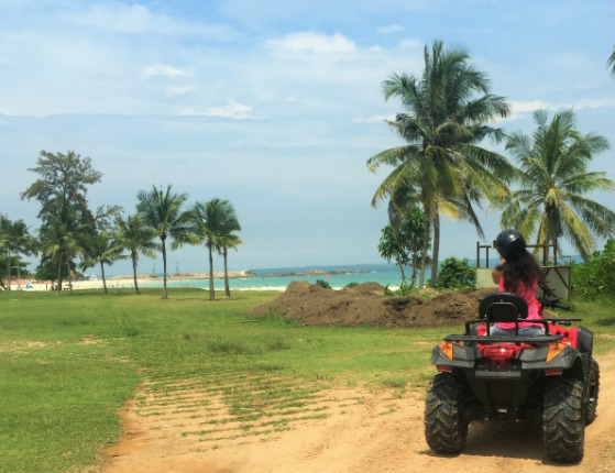 ATV ride at the Bintan Lagoon Resort, Indonesia