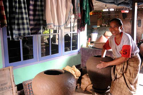 Handmade potteries in Lombok, Indonesia