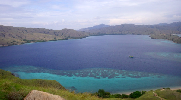 Our own private beach during Komodo boat trip