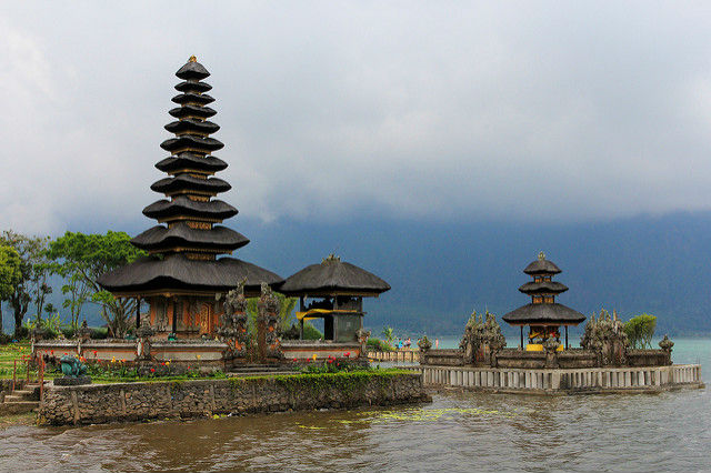 Pura Ulun Danu Temple at Lake Bratan, Bali, Indonesia