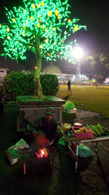 Purwokerto's Alun-alun at night