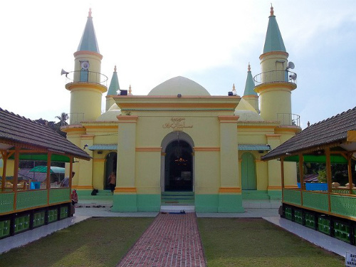 Sultan of Riau Grand Mosque at Penyengat Island, Bintan, Indonesia