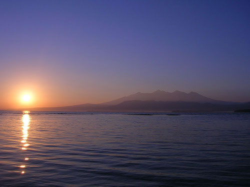 Sunrise at Gili Air, Lombok