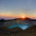 Tri-colored Lakes at Mount Kelimutu, Flores