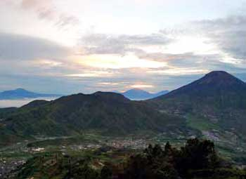 Sunrise at Sikunir Hill, Dieng Plateau, Java, Indonesia
