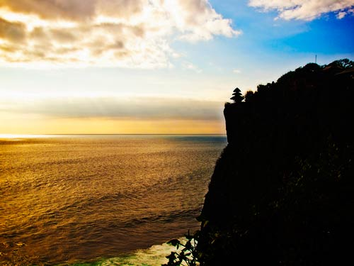 Sunset at Uluwatu Temple, Bali Indonesia