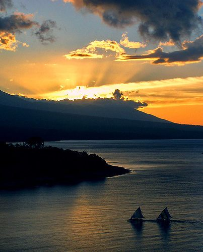 Sunset at Amed, Bali