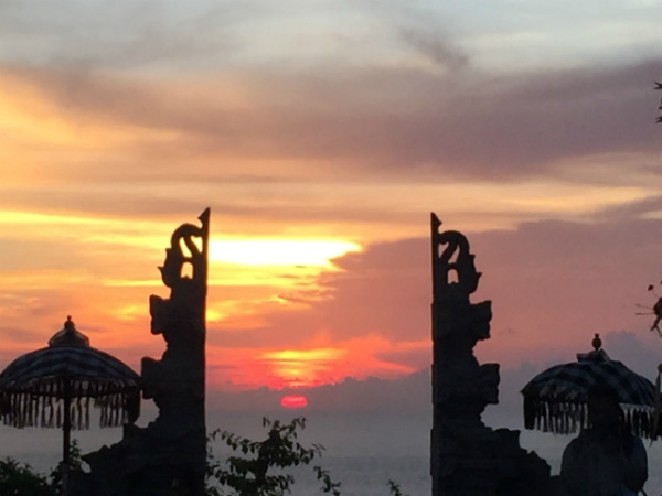 Sunset at Uluwatu Temple Bali, Indonesia