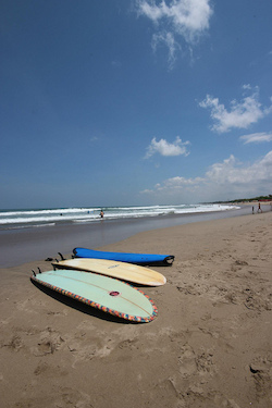 Surfboards at Kuta Beach, Bali