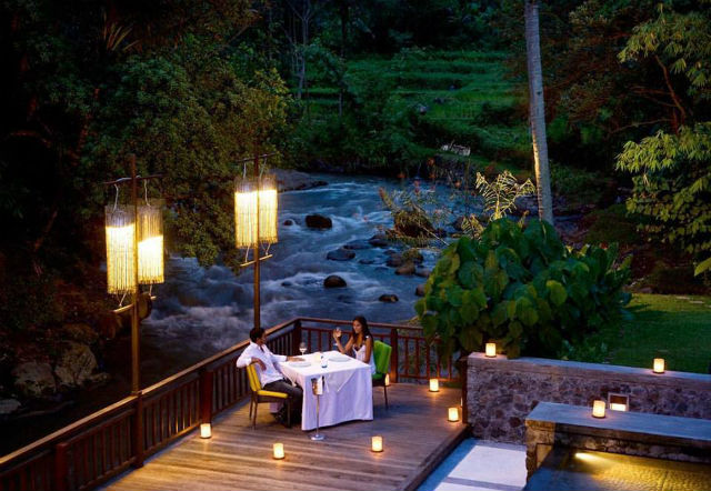Swept Away Restaurant, Samaya Ubud, fine dining Bali, Indonesia