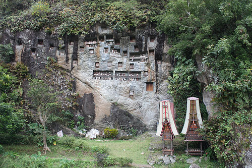 Graves at Lemo, Tana Toraja, South Sulawesi, Indonesia