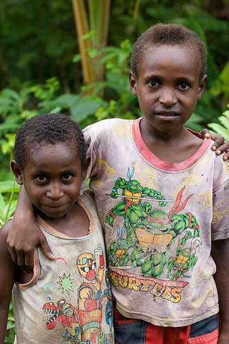 Tribe People of Lorentz National Park, Papua (Irian Jaya) Indonesia