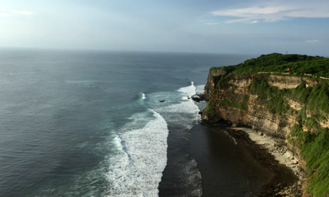 view from Uluwatu Temple clifftop Bali, Indonesia