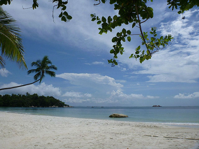 White sand beach at Bintan Island, Indonesia