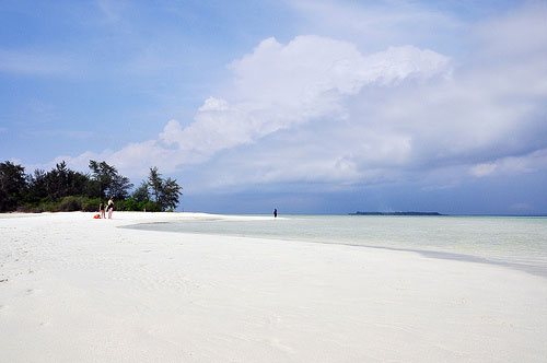 White sand beach at Karimunjawa, Java, Indonesia