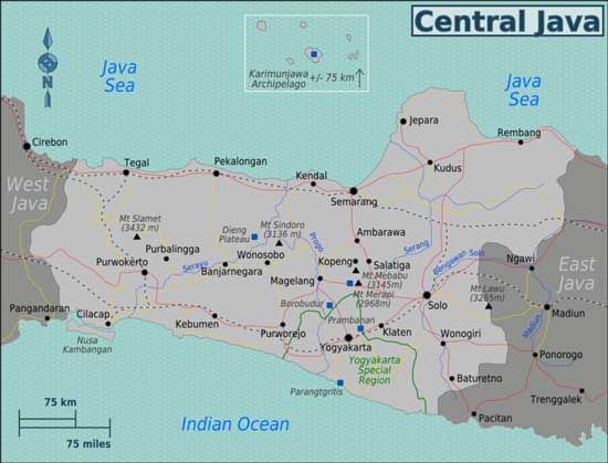 Yogyakarta Jogja Java Travel Guide – Indonesia Tourist Attractions Map